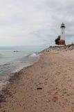 Crisp Point Lighthouse stock image