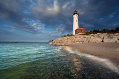 Crisp Point Lighthouse. Royalty Free Stock Photos