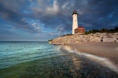 Crisp Point Lighthouse. royalty free stock photos