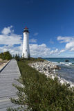 Crisp Point Lighthouse Royalty Free Stock Images