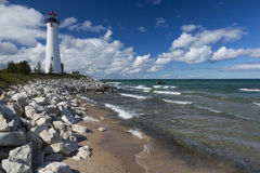 Crisp Point Lighthouse Royalty Free Stock Photos