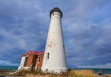 Crisp Point Lighthouse on Lake Superior Stock Images