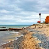 Crisp Point Lighthouse 2 royalty free stock photography