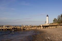 Crisp Point Lighthouse, Michigan USA. Crisp Point Lighthouse, west of Whitefish Point, Michigan USA Royalty Free Stock Images