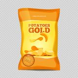 Crisp potato chips snacks. On transparent background. Vector illustration royalty free illustration