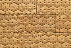 Crisp rye bran bread texture background Stock Photography