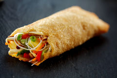 Crisp Spring Roll Filled with Fresh Vegetables Stock Photos