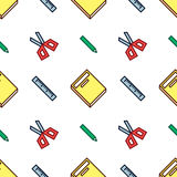 Crisp Stationery Pattern Royalty Free Stock Images