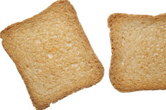 Crisp toasts. Cereals crisp toasts on white background stock images