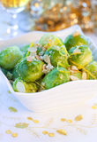 Crisp-topped brussels  sprouts Royalty Free Stock Photo
