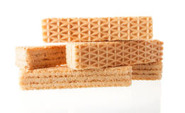 Crisp Wafers in a Heap Royalty Free Stock Image