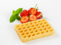 Crisp waffle Royalty Free Stock Photos