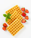 Crisp waffles Royalty Free Stock Image