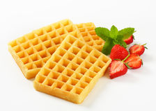 Crisp waffles Royalty Free Stock Photos
