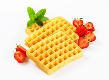 Crisp waffles Stock Images