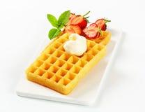 Crisp waffles Stock Photography