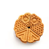 Crisp waffles Royalty Free Stock Photography