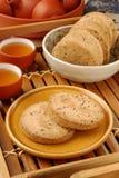 Crisp walnut cookie Stock Photos