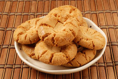 Crisp walnut cookie Stock Photography