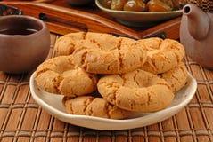 Crisp walnut cookie Royalty Free Stock Photos