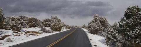 Crisp Winter Drive royalty free stock photography