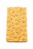 Crispbread. Sesame crispbread isolated on white background in vertical format Royalty Free Stock Images