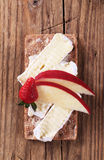 Crispbread And Cheese Stock Image