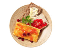 Crispbread with butter and jam Stock Image
