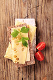 Crispbread and cheese Stock Images