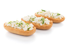 Crispbread with fromage Stock Image
