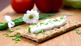 Crispbread and herb Stock Photos