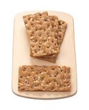 Crispbread isolated on white Stock Photography
