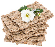 Crispbread isolated on white Stock Photography