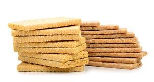 Crispbread  isolated on white background Stock Image