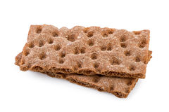Crispbread Isolated on White Royalty Free Stock Image