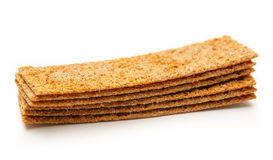 Crispbread isolated on white background Royalty Free Stock Photography