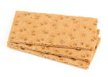 Crispbread Isolated on White Background Stock Images