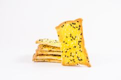 Crispbread with margarine and sesame Royalty Free Stock Photo