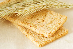 Crispbread and rye Stock Photography