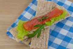 Crispbread with salmon Stock Images