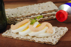 Crispbread sandwich Stock Images