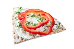 Crispbread Sandwich Royalty Free Stock Images