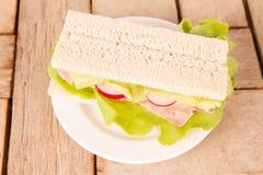 Crispbread sandwich Royalty Free Stock Image