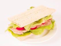 Crispbread sandwich Stock Photos