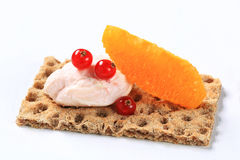 Crispbread with savory spread Stock Image