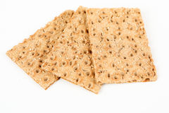 Crispbread with sesame Stock Images