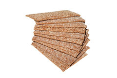 Crispbread slices Stock Images