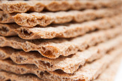 Crispbread slices stack Royalty Free Stock Images