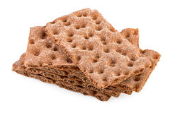 Crispbread Stack Isolated on White Stock Photography