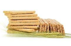 Crispbread and  wheat ear Royalty Free Stock Photos